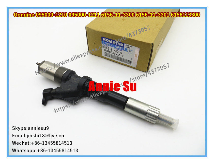 Denso Genuine Fuel Injector 095000-1210 095000-1211 0950001211 for KOMATSU 6156-11-3300 6156-11-3301 6156113300