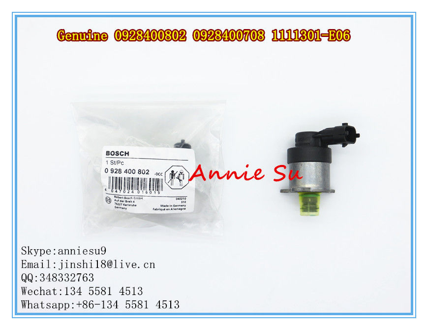 Bosch Genuine and New Common Rail Fuel Pump, Metering Valve Unit 0928400728 0928400802