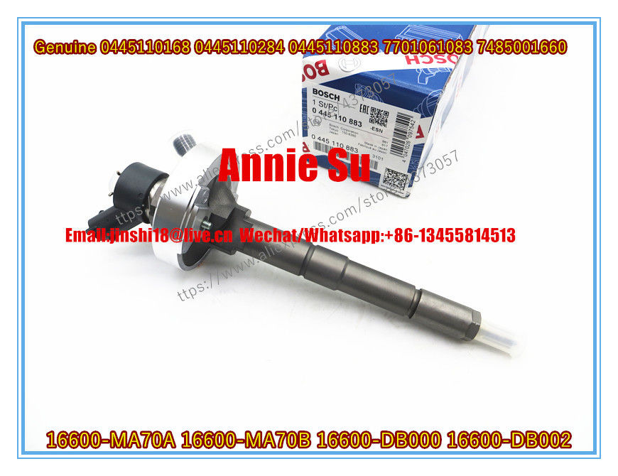 Bosch Genuine and New Common Rail Fuel Injector 0445110168, 0445110284, 0445110883 for NISSAN16600-MA70A, 16600-MA70B,
